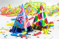 Let's party. Party accessories for New Year Eve, birthday party or carnival Stock Images