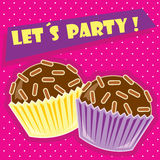 Let's Party. Card for party and special celebrations Royalty Free Stock Photo