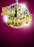 Let's party background Royalty Free Stock Images