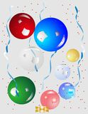 Let's Party with balloons.. Stock Photography