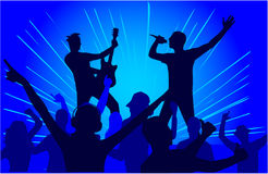 Let's Party - blue background Stock Photo