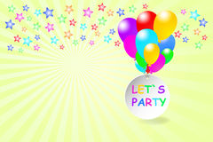 Let`s Party card Stock Photo