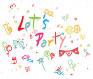 Let's Party Stock Image