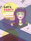 Let's party poster Royalty Free Stock Photos
