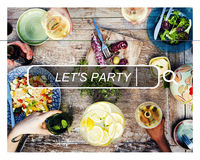 Let's Party Summer Freedom Happiness Concept Royalty Free Stock Images