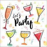 Let's party Royalty Free Stock Photos