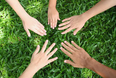 Let's play. Children's hands stock images