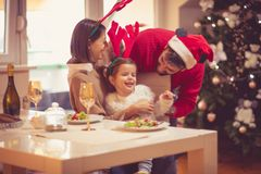 Let`s play, it`s Christmas stock photo