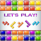 Let's play concept with tile blocks Stock Photo