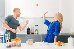 Let`s play in the kitchen, honey royalty free stock photo