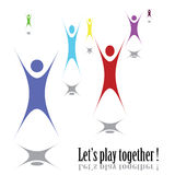 Let's play together!. People play together  eps8 vector graphic Royalty Free Stock Photo