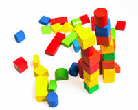 Let's play wooden toy blocks Stock Images