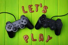 Let`s Play written by cookies Stock Photography