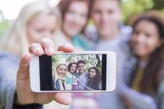 Let& x27 ; s prennent un selfie ! photographie stock