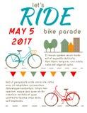 Let`s Ride - Bike Parade Poster Stock Photos