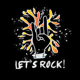 Let`s rock poster Royalty Free Stock Photography