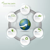 Let's save the Earth, Ecology concept infographics, Ecology icon. Ecology template vector illustration stock photography