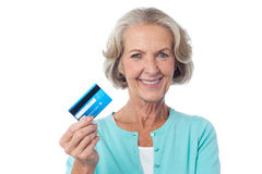 Let's shop with my credit card. Royalty Free Stock Photography