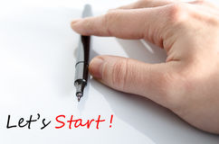 Let's Start Concept. Over White Background Royalty Free Stock Images