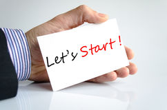 Let's Start Concept. Over White Background Stock Image