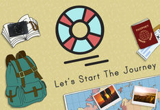 Let`s Start The Journey Travel Concept Stock Photography