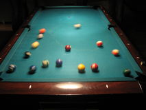 Let's start the pool game Royalty Free Stock Images