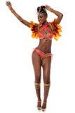Let's starts the carnival. Full length of beautiful samba dancer Stock Image