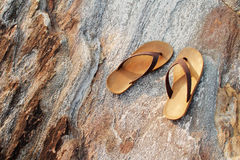 Let's the summer starts take off your sandal then go to the sea,. Let's the summer starts take off your sandals then go to the sea Stock Photo