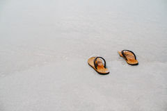 Let's the summer starts take off your sandal then go to the sea, Royalty Free Stock Photography