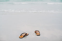 Let's the summer starts take off your sandal then go to the sea,. Let's the summer starts take off your sandals then go to the sea Royalty Free Stock Photo