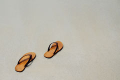 Let's the summer starts take off your sandal then go to the sea, Royalty Free Stock Images