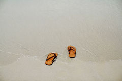 Let's the summer starts take off your sandal then go to the sea,. Let's the summer starts take off your sandals then go to the sea Royalty Free Stock Image
