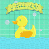 Let's take a bath Royalty Free Stock Images