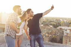 Let`s take a selfie Royalty Free Stock Photos