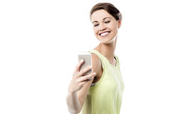 Let's take a selfie ! Royalty Free Stock Photos