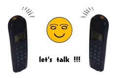 Let's talk !! Stock Photo