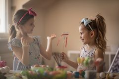 Let`s talk about Easter gifts stock photography