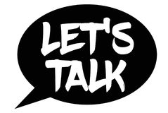 Let`s Talk typographic stamp. Typographic sign, badge or logo Royalty Free Stock Photos