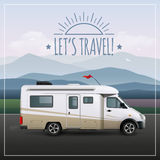 Let S Travel Poster royalty free illustration