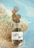 Let's travel - vacation budget Stock Images