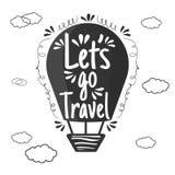 Let' ; s vont voyage illustration stock