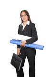 Let´s work. Business woman ready to work Stock Photo