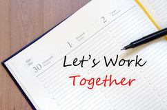 Let's work together concept Stock Photo
