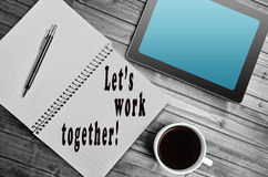 Let's work together! Stock Photos