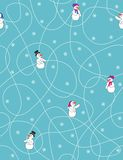 Let it snow. Seamless pattern with cartoon figures Royalty Free Stock Images