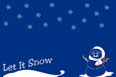 Let it Snow royalty free stock photography