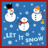 Let it snow vector illustration