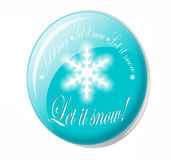 Let it snow button Royalty Free Stock Images