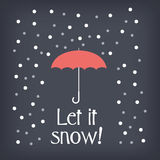 Let it snow christmas card concept design with Stock Image