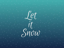 Let it snow. Christmas lettering with snowflakes. Vector Stock Photography